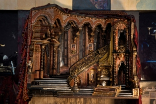 The original model for the Sunset Set - Photo Courtesy of John Napier Stages